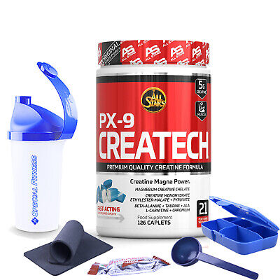 113,71€/kg All Stars Createch PX9 All in One Creatin Matrix 126 Kapseln + BONUS