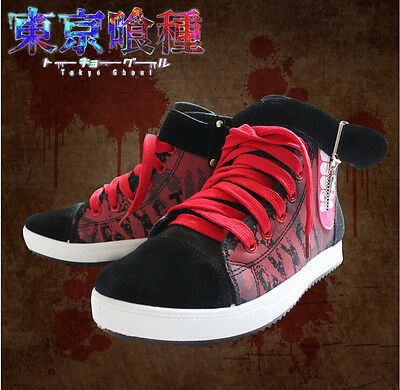 New Anime Tokyo Ghoul Kaneki Ken Cool Canvas Sneakers Shoes Cosplay Hand Painted
