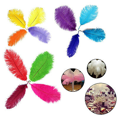 35-40mm Large Real Ostrich Feathers Wedding Birthday Party Decorations 5/10 Pack