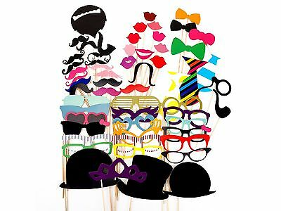 Photo Booth Props Moustache on A Stick Weddings Christmas Birthday Party Fun