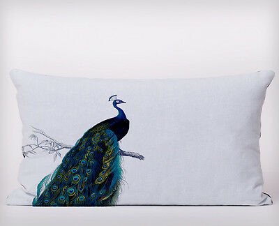 Peacock Bird  - Long Cushion Covers Pillow Cases Home Decor or Inner