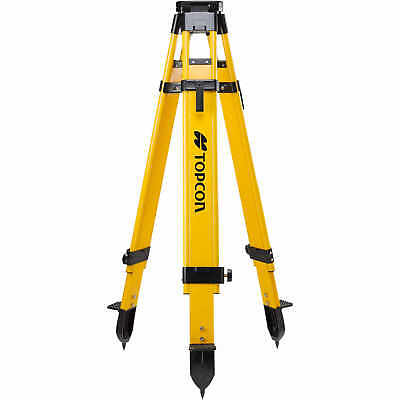 "Topcon® Heavy-Duty Fiberglass 5/8"" x 11 Thread Tripod with Dual Clamp"