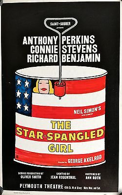 """The Star Spangled Girl 1966 Broadway Theatre Window Card Poster  22"""" X 14"""""""