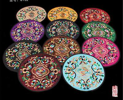 Wholesale5pair/10pcs Chinese Handmade Silk Embroidered Cup Mat Pad Coaster