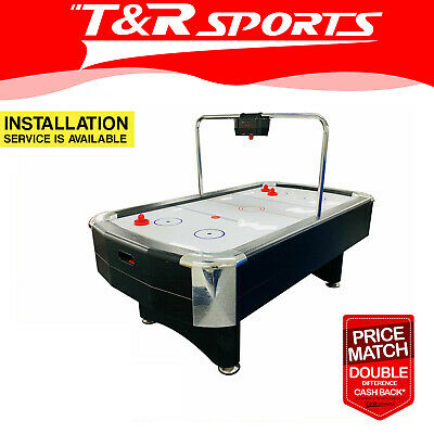 7FT Deluxe Air Hockey Table Electronic Scorer Powerful Blowing Fan System Bonus