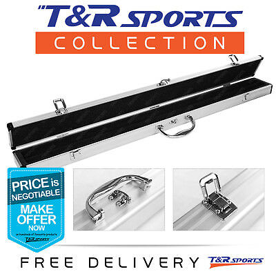 Classic Aluminum Cue Case for Pool Snooker Billiard 1/2 Cue Free Delivery