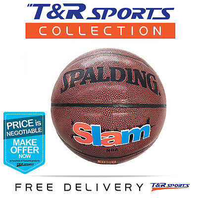 Size 7 Spalding Slam Official Basketball Ball Indoor Outdoor Free Post