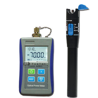 Laser Optical Power Meter Fiber Optic 10mW Visual Fault Locator Cable Tester FTT