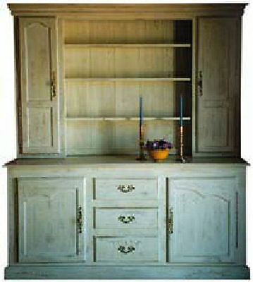 FRENCH HUTCH China Cabinet Antique European Reproduction 25 Paints Stains New