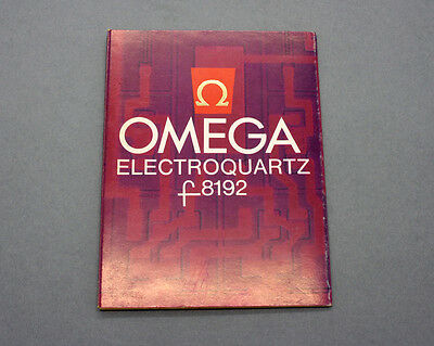 New old stock OMEGA F 8192 instruction manual & Info for Constellation