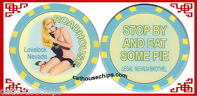 ROADHOUSE   Lovelock Nevada Brothel Collectors Chip CAT HOUSE Whore house