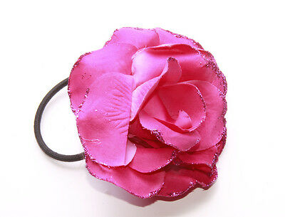 Pink Glitter Synthetic Flower Elasticated Hairband For Special Occasions(Zx43)