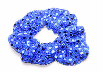 Royal Blue Metallic Sequin Effect Elastic Hairband For Special Occasions(Zx43)