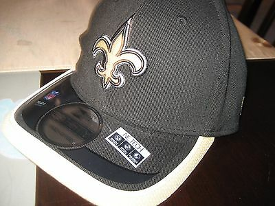 9b6e41ca7 NEW ERA 39THIRTY NFL New Orleans Saints Fitted Size M L Hat Cap NWT ...
