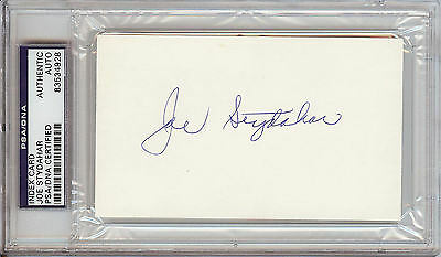 Joe Stydahar Signed 3x5 Index Card (PSA/DNA)