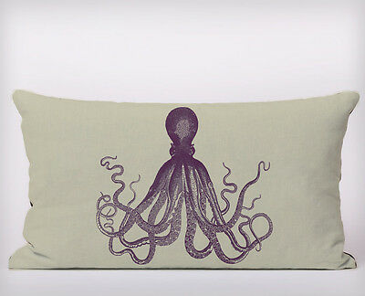 Seaside Octopus  - Long Cushion Covers Pillow Cases Home Decor or Inner