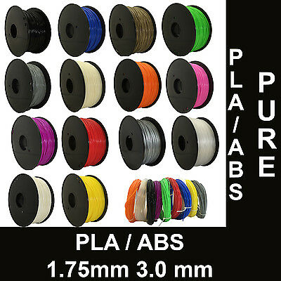 3D Printer Filament ABS / PLA - 1Kg-  1.75 / 3.0mm-  makerbot Huxley Leapfrog