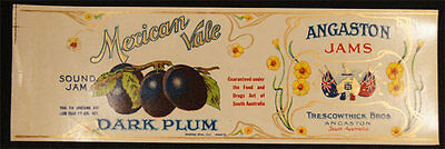 C.1910 LITHOGRAPHED ANGASTON JAMS PLUM TRESCOWTHICK BAROSSA VALLEY STH AUST q11.