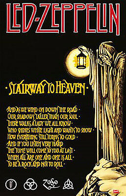 Led Zeppelin Stairway To Heaven Music Poster Print, New, 24x36