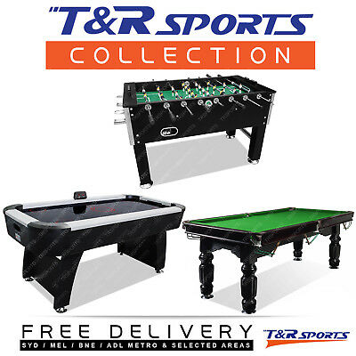 Game Room Package 5FT Soccer + 6FT Air Hockey + 8FT Slate Pool Table Free Acc.
