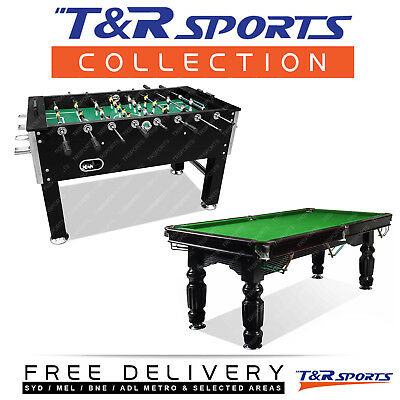Game Room Package-8Ft Slate Pool/billards/snooker Table+Soccer/foosball Table