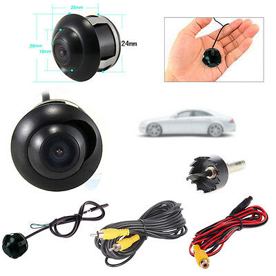 Mini 360° CCD HD Car Front Side Rear View Parking Reverse Camera Night Vision UK