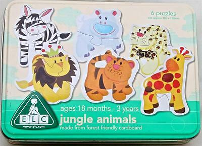 Jungle Animals 6 Touch & Feel Texture Puzzles 18 months - 3 Early Learning Game