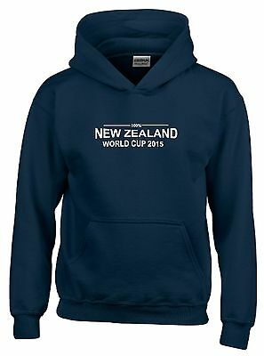 100% New Zealand World Cup 2015 Mens Rugby Hoodie
