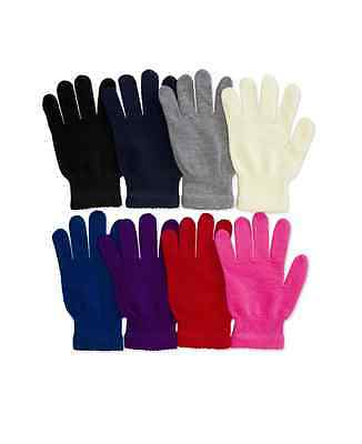 New Womens Casual Magic Gloves Warm Winter Solid Basic Fashion Unisex Soft Knit