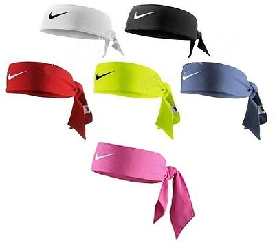 NEW Nike Dri-Fit Head Tie 2.0 Headband Head Tie Black White Red Blue Pink Yellow