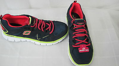 New Women's Skechers Synergy Athletic Training Shoes 11681 Navy/ Hot Pink  51J
