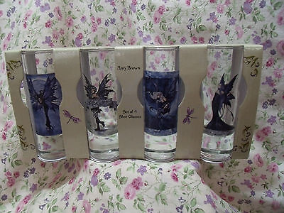 New Amy Brown Set Of 4 Shot/jigger Glasses Fairy Faery