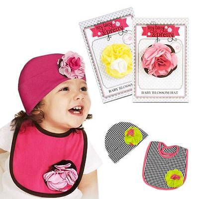 Itty Bitty Pretty Strawberry Sundae Baby Girl Pink  Cotton  Flower Hat Beanie