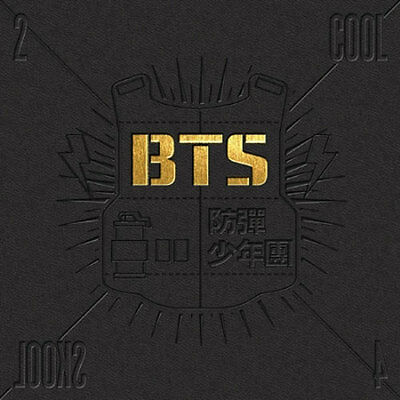BTS [2 Cool 4 Skool] 1st Single Album CD K-POP Bangtan Boys+FREE gift poster