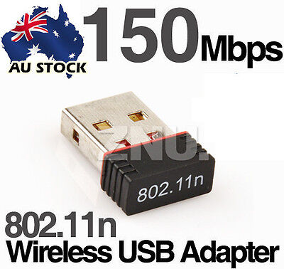 Handy USB Wireless Router Dongle Internet Network Adapter WIFI 150Mbps AU
