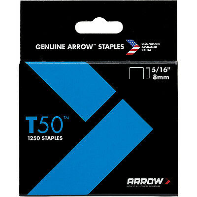 ARROW T50 Staples 6mm , 8mm , 10mm , 12mm , 14mm - PACK of 1250