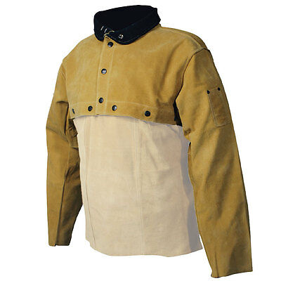 Genuine Pigskin Welding Cape Sleeves, Kevlar Sewn  Caiman-3031 Choose Your Size