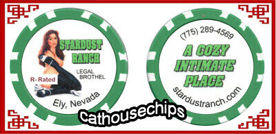 Stardust Ranch Ely NV  ** Cathouse ** R - RATED Series  Brothel Chip  ~ GREEN ~