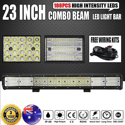 """23inch Philips LED Light Bar Combo Offroad Driving Work Truck 2256W 20"""" 23""""+Wire"""