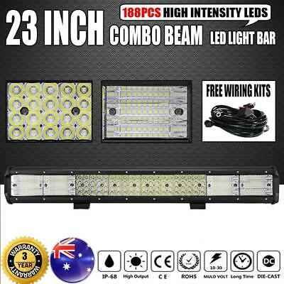 "50""INCH 672W Philips CURVED LED LIGHT BAR SPOT&FLOOD OFFROAD 4X4WD ATV TRUCK 52"""