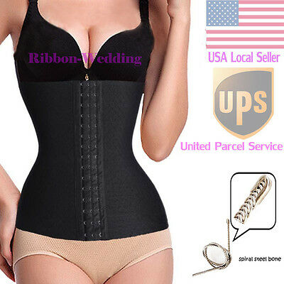 2017 Waist Cincher Trainer Body Girdle Corset Gym Workout Sport Shaper XS-XL C24