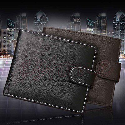 Simple Men's Faux Leather ID Credit Card Holder Coin Zip Purse Wallet Billfold