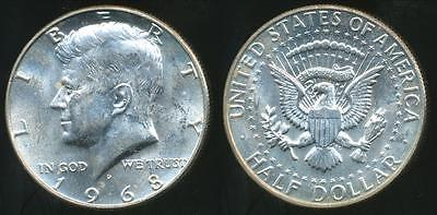 United States, 1968-D Half Dollar, Kennedy (Silver) - Uncirculated