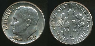 United States, 1965 Dime, Roosevelt - Choice Uncirculated