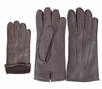 Top Quality Men's Winter Fashion Dress Gloves Inside Lining Real Sheep Leather