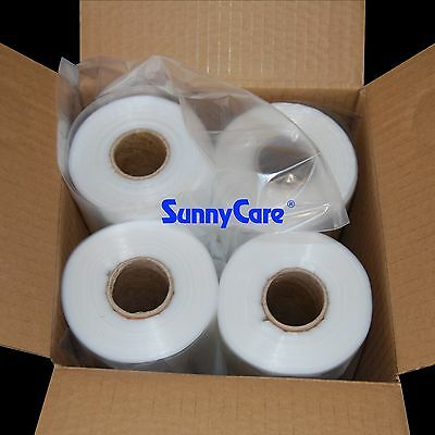 1600pcs 4 Roll 11X19 LDPE Clear Produce Grocery Supermarket Bag