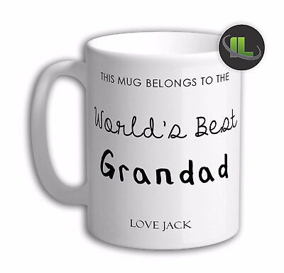 Personalised World's Best Grandad Mug Cup. Customise with your own text. IL2028A