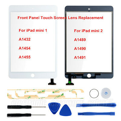 For  iPad mini 1 2 Front Glass Touch Screen Lens Digitizer Replacement White
