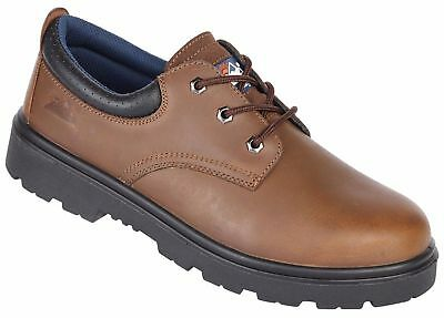 Himalayan 1411 brown leather S3 SRC safety shoe with midsole size 3-12