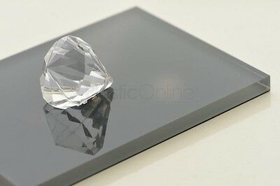 Anthracite Grey Colour Perspex Acrylic Sheet Plastic Panel High Gloss 6mm Thick